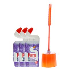 kit-pato-banheiro-com-3-desinfetante-pato-5-em-1-escova-sanitaria-com-suporte-anfora
