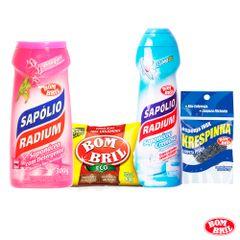 kit-sapolio-radium-com-1-sapolio-cremoso-cloro-e-1-sapolio-em-po-bouquet-8-la-de-aco-bom-bril-e-1-esponja-krespinha