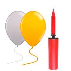 kit-baloes-de-festa-nas-cores-ouro-e-prata-com-100-unidades-em-cada-pacote-bomba-para-inflar-baloes