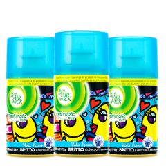 kit-com-3-refil-purificador-bom-ar-air-wick-freshmatic-spray-automatico-romero-britto-vida-fresca-250ml