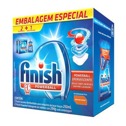 Kit-Especial-para-Maquina-de-Lavar-Loucas-Finish-2-Finish-Tablet-PowerBall-294g-1-Finish-Secante-Abrilhantador-250ml-6670764
