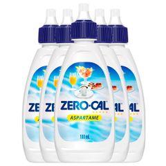 kit-zero-cal-com-5-adocantes-aspartame-liquido-de-100ml