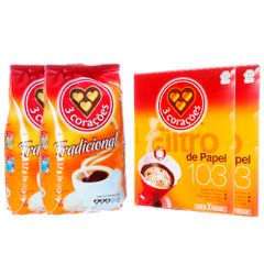 kit-com-60-unidades-de-coador-de-papel-3-coracoes---2-pacotes-de-cafe-tradicional-500g-3-coracoes