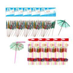 kit-com-50-canudos-flexiveis-guarda-chuva-50-palitos-de-madeira-guarda-chuva
