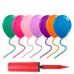 kit-baloes-de-festa-coloridos-nas-cores-verde-laranja-pink-rosa-roxa-e-lilas-azul-bomba-para-inlflar-baloes