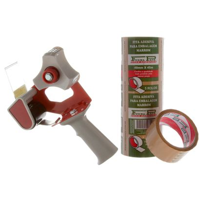 kit-com-1-aplicador-de-fita-adesiva-5-rolos-de-fita-adesiva-marrom-furnapack