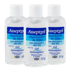 Kit-Alcool-em-Gel-Anti-septico-para-as-Maos-com-52g-Start-com-3-unidades